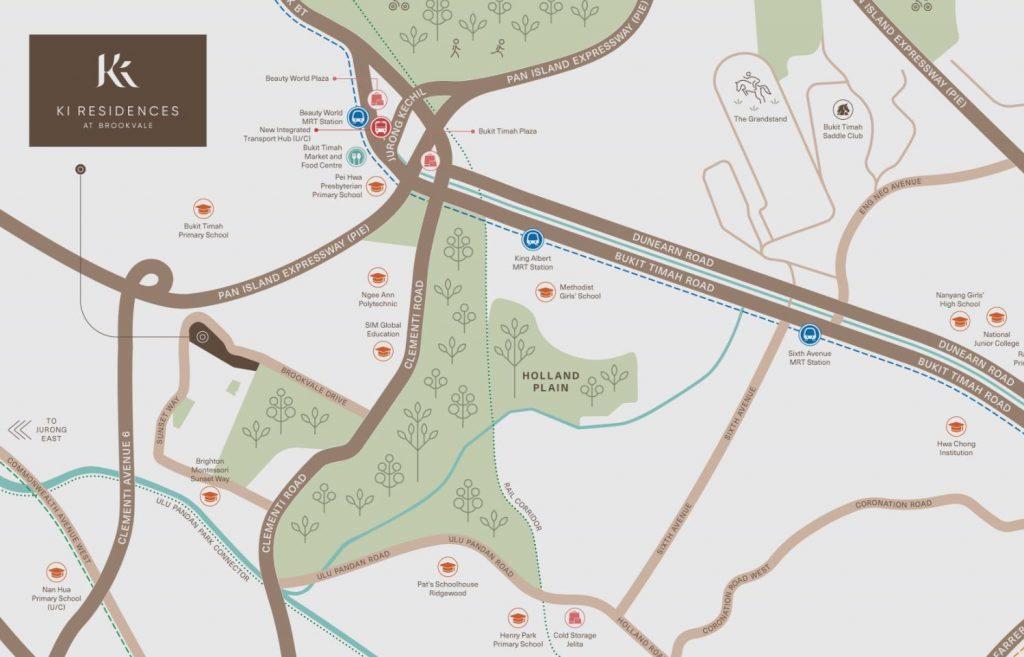 Ki-Residences-Location-Map-sunset-way-former-brookvale-park-singapore